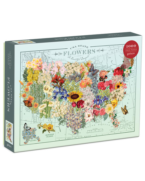 USA State Flowers Puzzle View Product Image