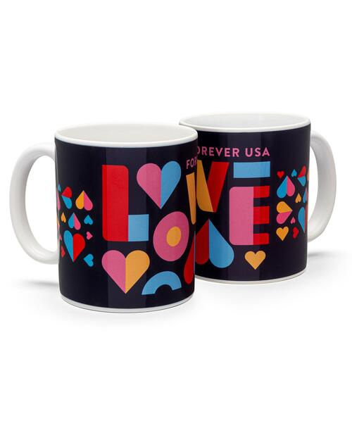 Love Stamp Mugs - Set of 2 View Product Image