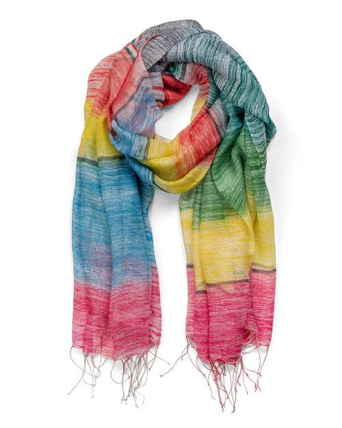 Rainbow Silk Scarf View Product Image