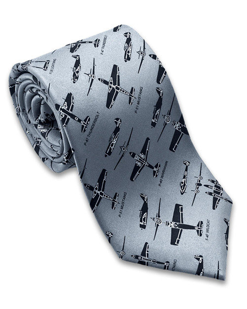 WWII Fighter Planes Tie View Product Image