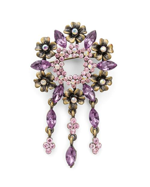 Purple Flower Burst Pin View Product Image
