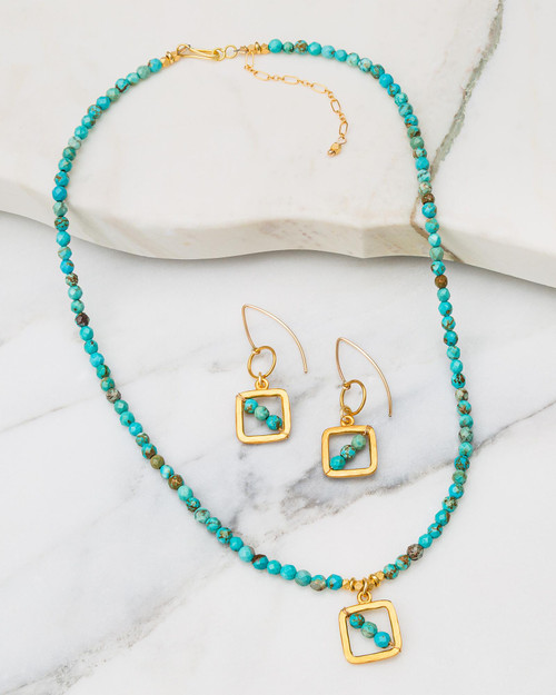 Turquoise Beaded Jewelry Set View Product Image