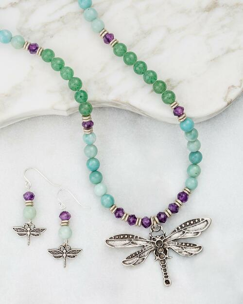 Dragonfly Gemstones Jewelry Set View Product Image