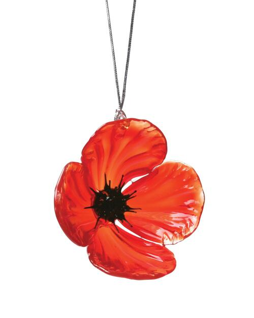 Red Poppy Ornament View Product Image