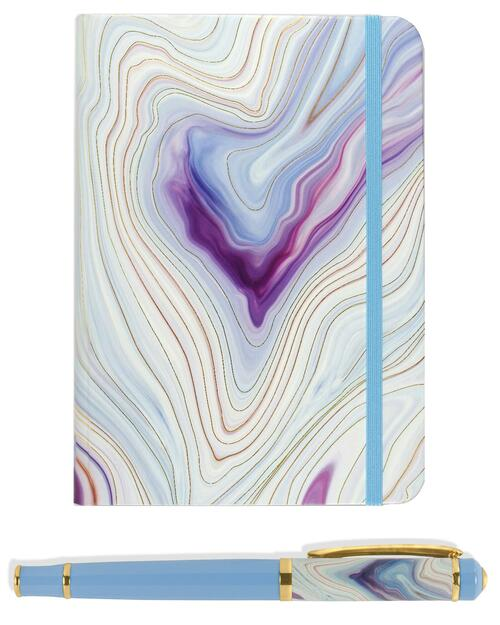 Blue Agate Journal and Pen Set View Product Image