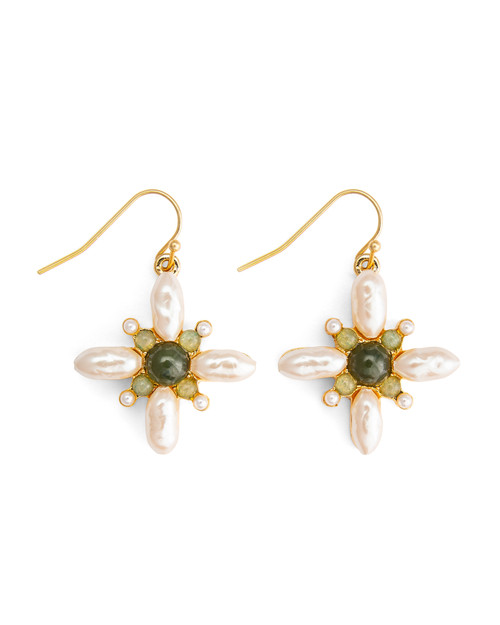 Gemstone Drops Earrings - Front View Product Image