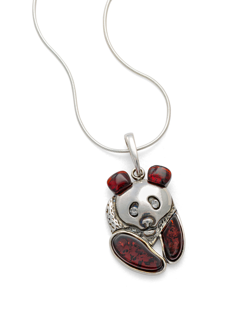 Amber Panda Pendant Necklace View Product Image