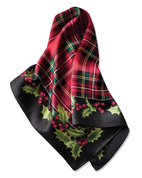Holly Plaid Silk Scarf View Product Image