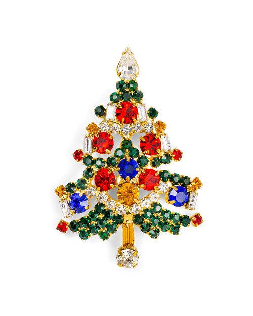 Multi-Color Christmas Tree Pin View Product Image