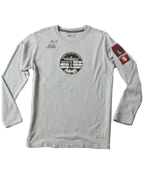 Men's Grey B17 Long Sleeve T-Shirt View Product Image