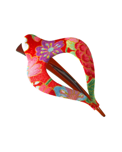 Large Red Harp Hair Clip View Product Image