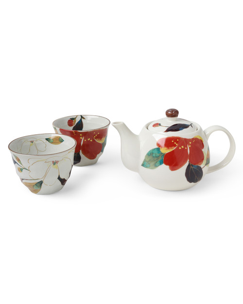 Fall Flowers Tea Set View Product Image
