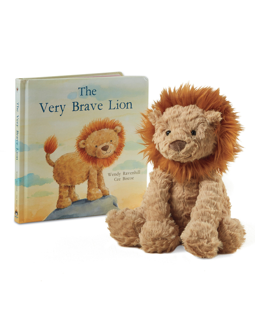 9-Inch Plush Lion and The Very Brave Lion Board Book View Product Image