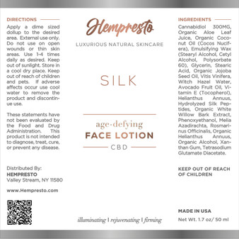 SILK Age-Defying CBD Face Lotion