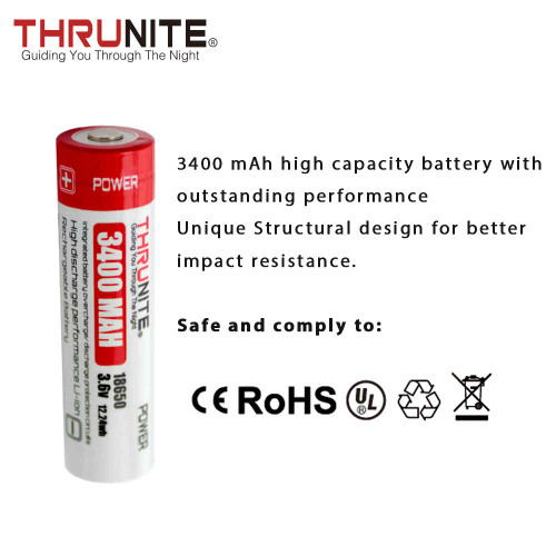 ThruNite 18650 Battery 3400mAh2 Only US Available