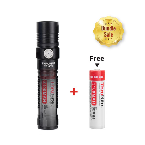 Bundle Sale - TC15 Black + 1*IMR 18650 Battery