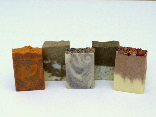 Pictured left to right; Jaffa, Minty Citrus, Lavender, Gardener's and Flower Power.
