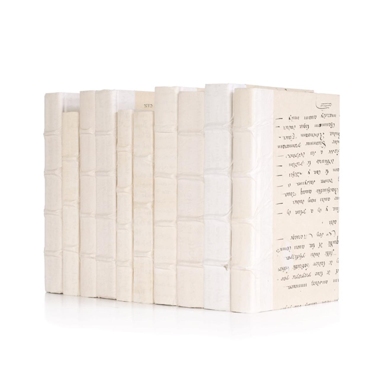 Decorative Books - White Parchment