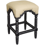 Noir Abacus Counter Stool, Hand Rubbed Black