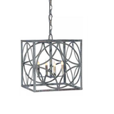 French Iron Emma Lantern 4 Light