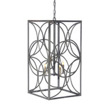 French Iron Emma Lantern 6 Light