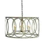 French Iron Charles Pendant 6 Light