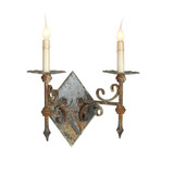 French Iron Trestle Double Sconce