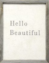 Sugarboo Designs Hello Beautiful Art on Wood