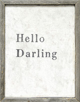 Sugarboo Designs Hello Darling Art on Wood