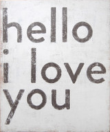 Sugarboo Designs Hello I Love You Art on Wood