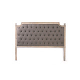 Zentique Louis Tufted Queen Headboard in Aubergine