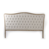 Zentique Maison Tufted King Headboard in Natural Linen