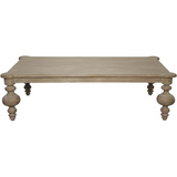 Noir Graff Coffee Table in Weathered