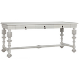 Noir Portuguese Writing Desk in White