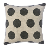 Polka Dot Linen Pillow