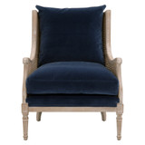 Churchill Club Chair in Denim Velvet