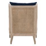 Churchill Club Chair in Denim Velvet