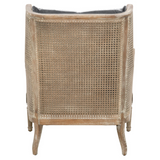 Churchill Club Chair in Shadow Gray Velvet