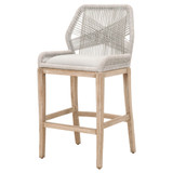 Loom Bar Stool in Taupe & White