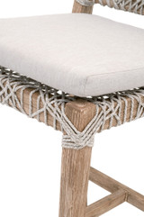 Costa Counter Stool in Taupe & White