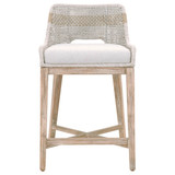 Tapestry Counter Stool in Taupe & White