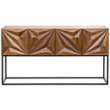 Noir Zurich Console in Dark Walnut