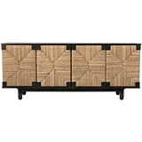 Noir Brook 4 Door Sideboard in Pale
