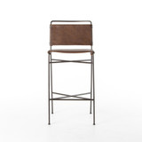Wharton Bar Stool in Distressed Brown
