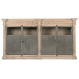 Grecian Media Sideboard in Smoke Gray Pine