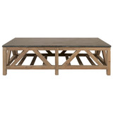Blue Stone Coffee Table in Smoke Gray Pine