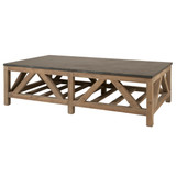 Blue Stone Coffee Table in Smoke Gray Pine
