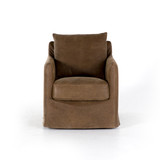 Banks Swivel Chair in Umber Gray