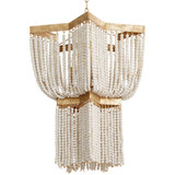 Estrella 3 Light White Beaded Medium Chandelier