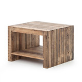 Beckwourth Side Table in Rustic Natural